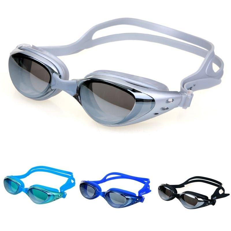 Adult Non-Fogging Anti UV Swimming Swim Goggle Glasses Adjustable Eye Protect PF
