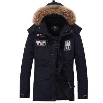 SBABY-Men Military Thicken Warm Hooded Warm Cotton Quilted Jacket