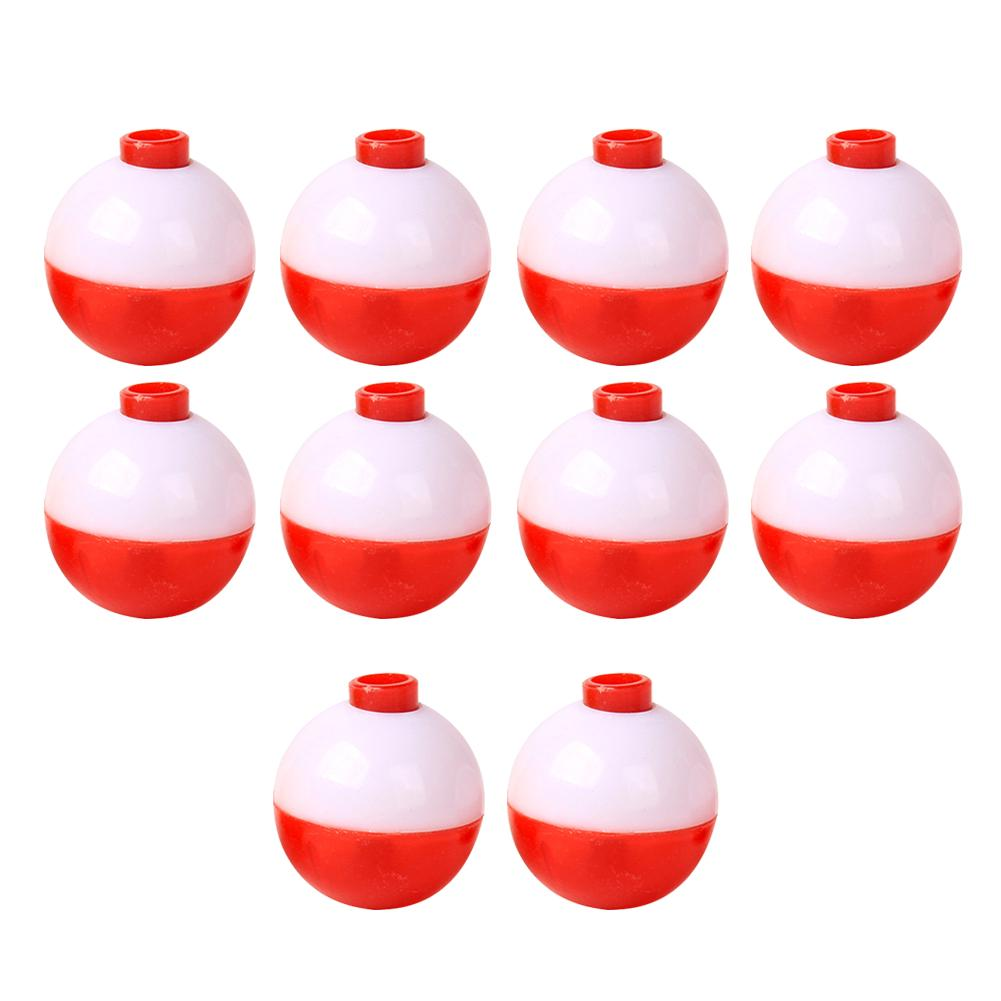 10x Fishing Bobber Set Plastic Round Float Buoy Outdoor Fishing Gear Tackle