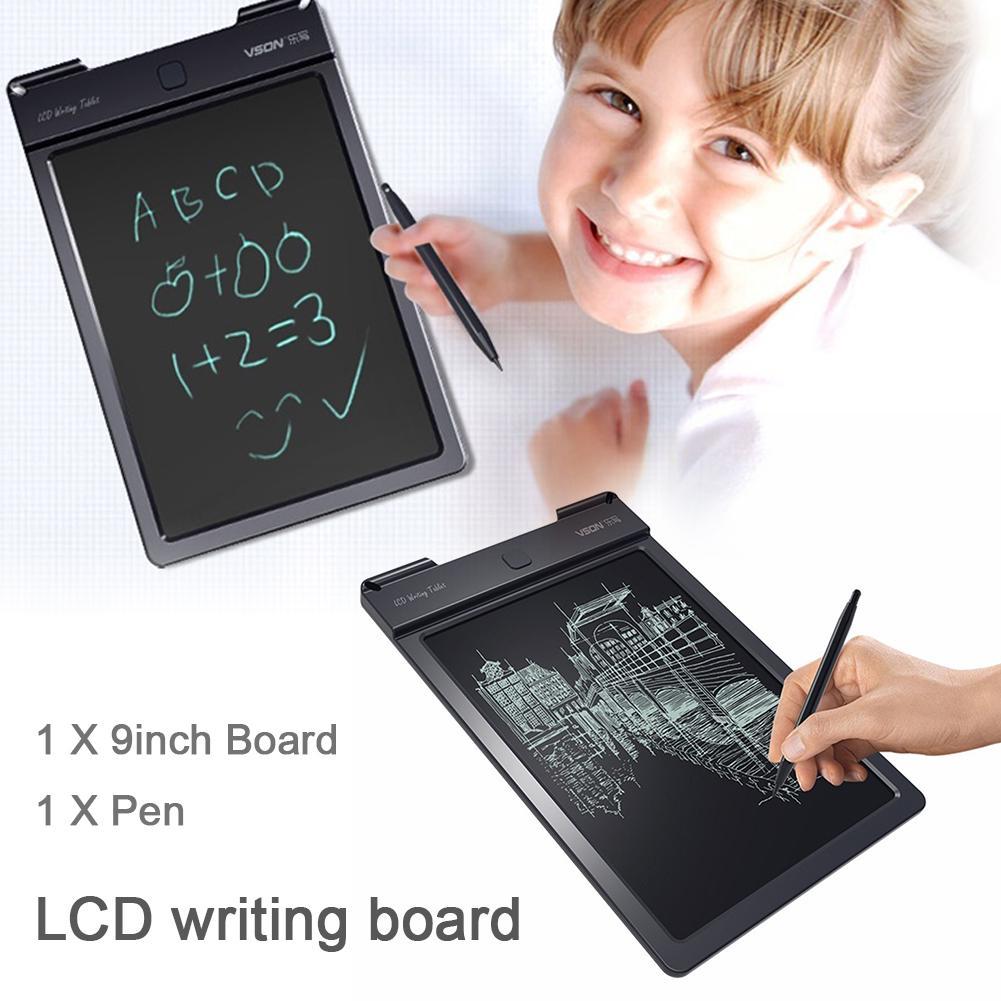 High Screen Mini Handwriting Board 4.4 Inch Light Energy Small Blackboard//LCD Writing Board Green Family Message Board with Magnet