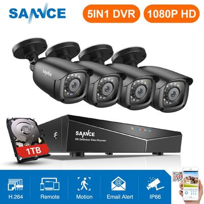 SANNCE 16CH 5in1 HD 1080P HDMI  DVR CCTV Video Recorder Home Security System 2TB