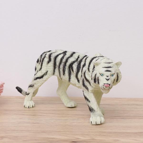 NUOVO * AAA TIGRE bianca giocattolo in plastica solida durevole Figura Animale Selvatico Zoo