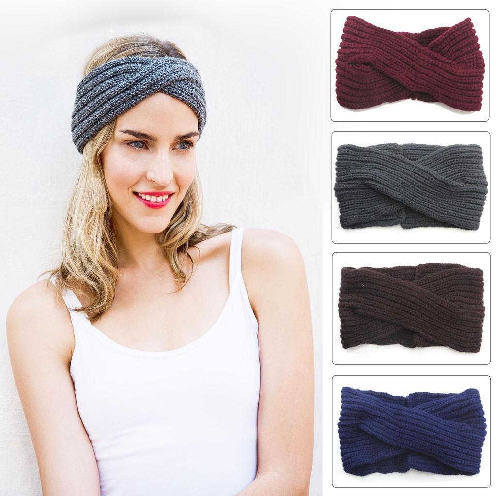 Invierno 7 colores Crochet punto diadema Headwrap oído calentador ...