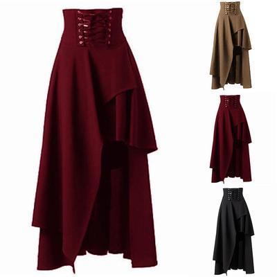 d968603edce Women Gothic Lolita Band Waist Skirt Steampunk Vintage Style Skirt ...