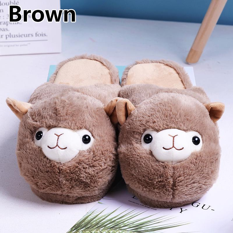 Faux Fur Boots Winter Warm Slippers Snow Rainbow Plush Novelty Shoes Soft Animal