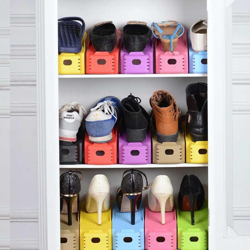 1pcs Multi-colors Popular Shoe Racks Modern Double Cleaning Storage Shoes Rack Living Room Convenient Shoebox Shoes Organizer Shoe Accessories Shoe Trees