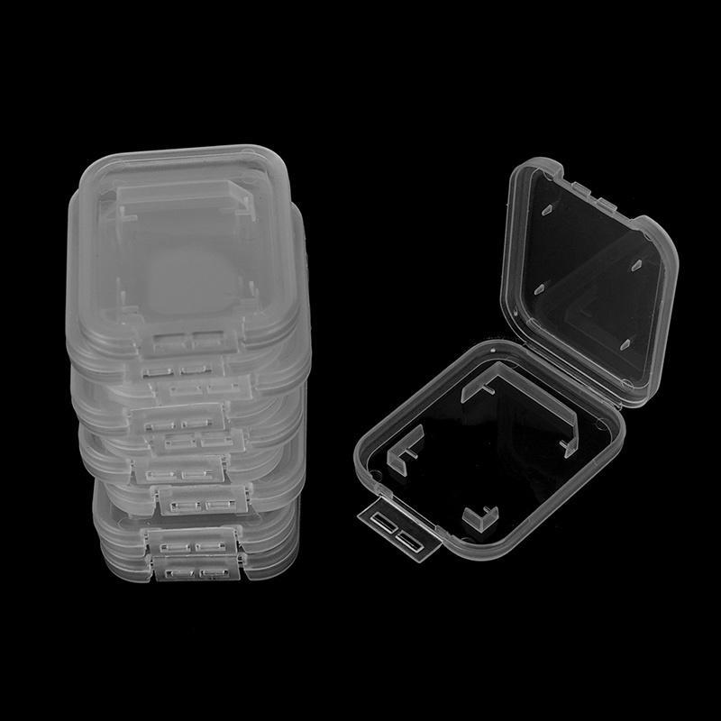 10Pcs Transparent Standard SDHC SDXC Memory Card Case Holder Box Storage