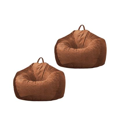 Kids Plush Toys Storage Bean Bag Brown/_M Leathaire Beanbag Lounger Sofa Cover Bedding Clothes Pillow Storage Bags