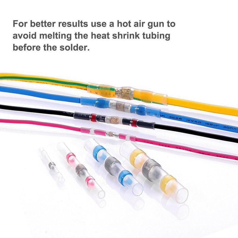 100 Stück Lötzinn Hülse Hitze schrumpfen Hintern Wire Splice Stecker ...