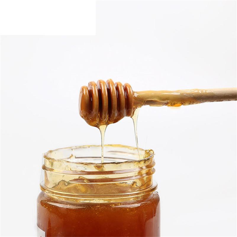 barra de mezcla 24 piezas de madera cazo de miel mermelada drizzler mermelada jarabe 10.5cm aparatos de cocina