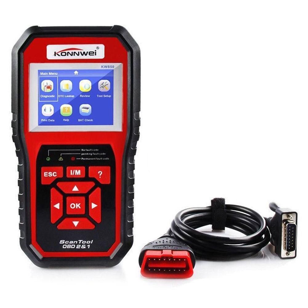 Diagnostic scanner kw850 OBDII scan tool check engine car code reader EOBD