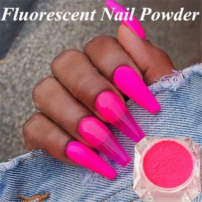 Phosphor Pigment Manicure Nail Art Glitter Decoration Neon Fluorescent Nail Glitter Powder