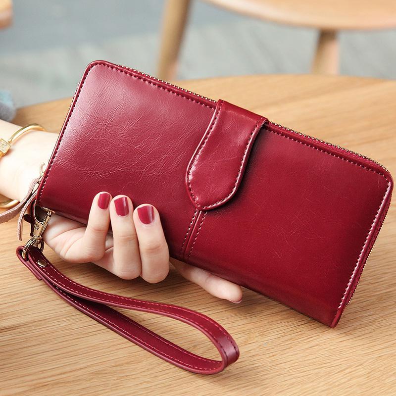 Wild Money Bag Women Wallet 21*11cm Long Wristlet Clutch Handbag Card Holders C