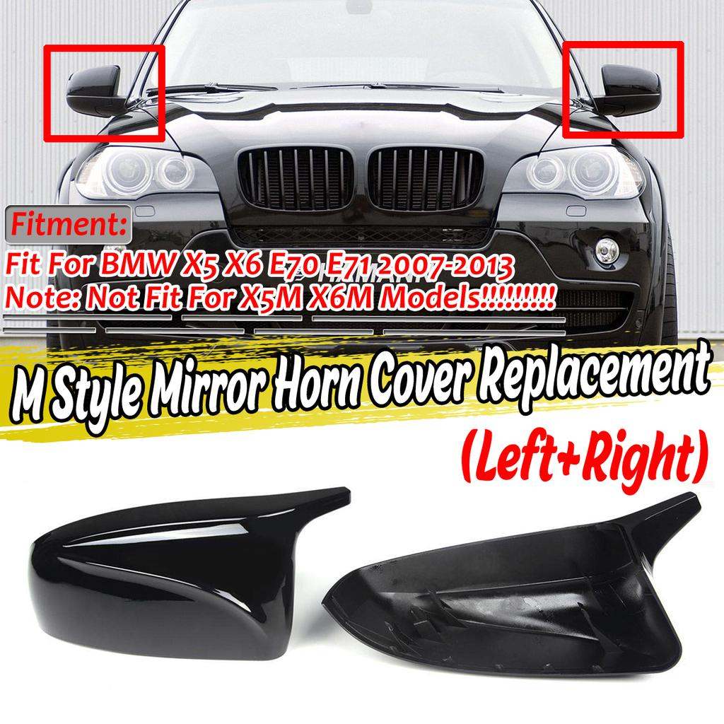 2x X5 X6 Mirror Cover Car Side Door Wing Rearview Mirror Caps Replacement Shell For Bmw X5 X6 E70 E71 2007 2013 Buy At A Low Prices On Joom E Commerce Platform