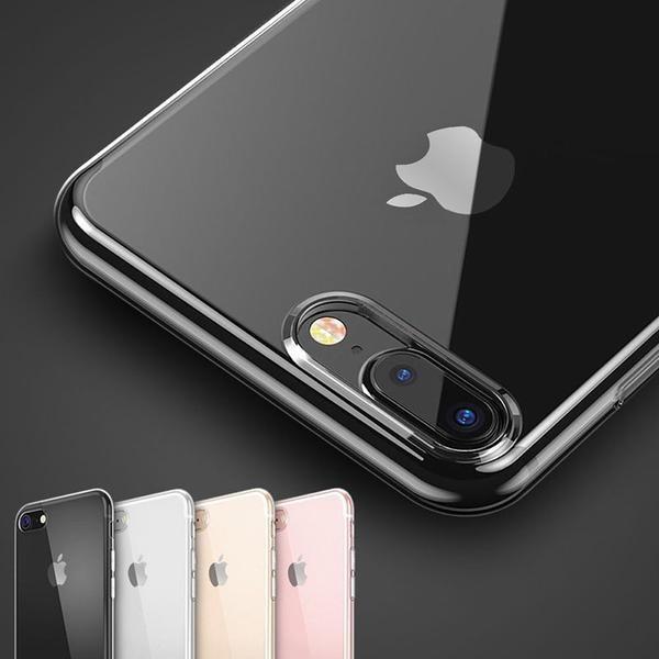 Прозрачный ясно дело гель ТПУ мягкий покрытия кожи для iPhone 8 8 плюс