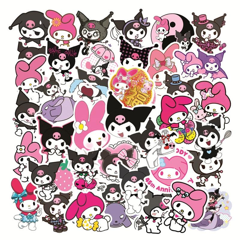 10pcs Kuromi Melody Keroppi Pekkle Cute Stickers For Kids Letter Diary Scrapbooking Stationery Pegatinas Sticker Toys Buy From 2 On Joom E Commerce Platform