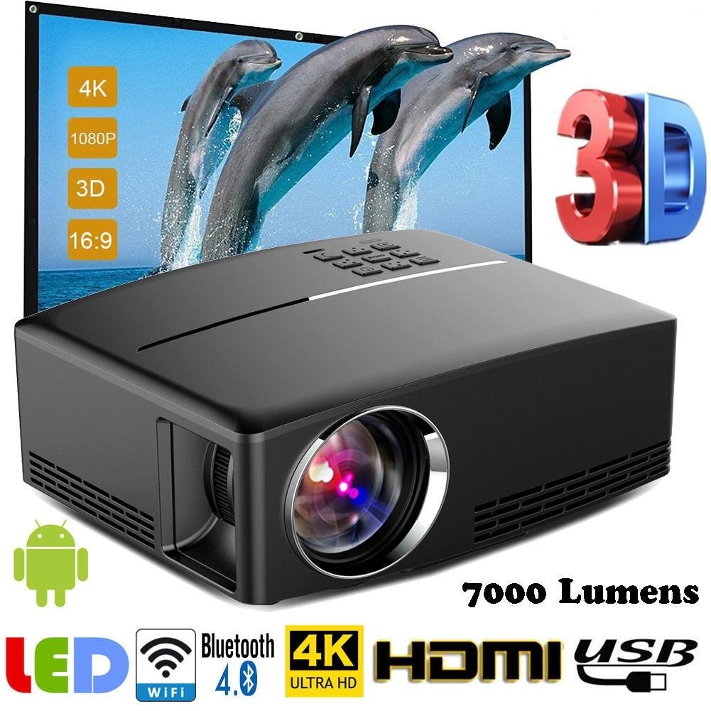 20P Multimedia 20K WiFi Android Bluetooth Home Theater Projector Projector  Cinema Projector buy at a low prices on Joom e commerce platform