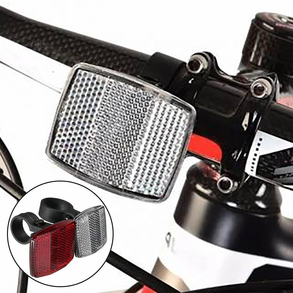 22.2mm Handlebar Mount Safe Reflector Bicycle Bike Front Rear Warning Red// White