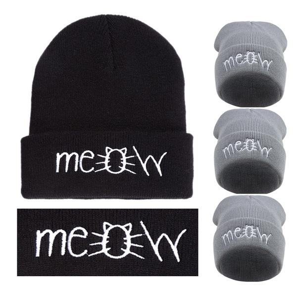 a4150b056e8 Autumn Winter Meow Beanie Hat Cap Men Women  S Casual Hip Hop Hats Knitted  Wool Warm Hat-buy at a low prices on Joom e-commerce platform