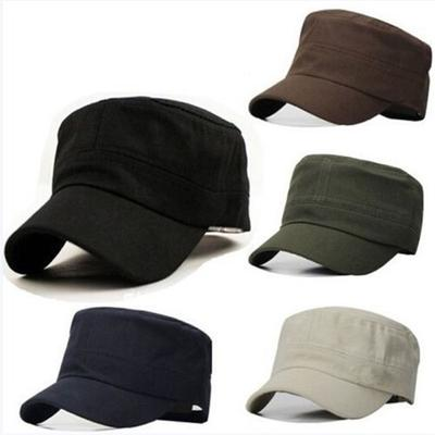 ea7501769b8 Fashion Gifts Classic Plain Vintage Army Military Cadet Style Cotton Cap Hat  Adjustable