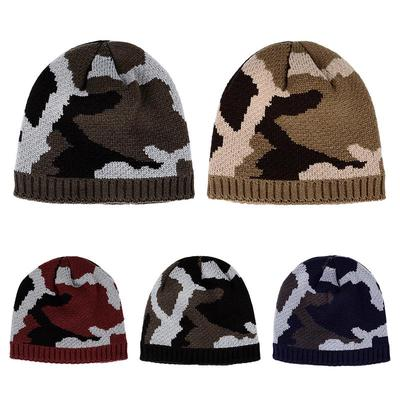 f791384ce93 Winter Hat Thickened Fleece Lining Sports Knitted Hat Velvet Warm Beanies  For Climbing Fishing