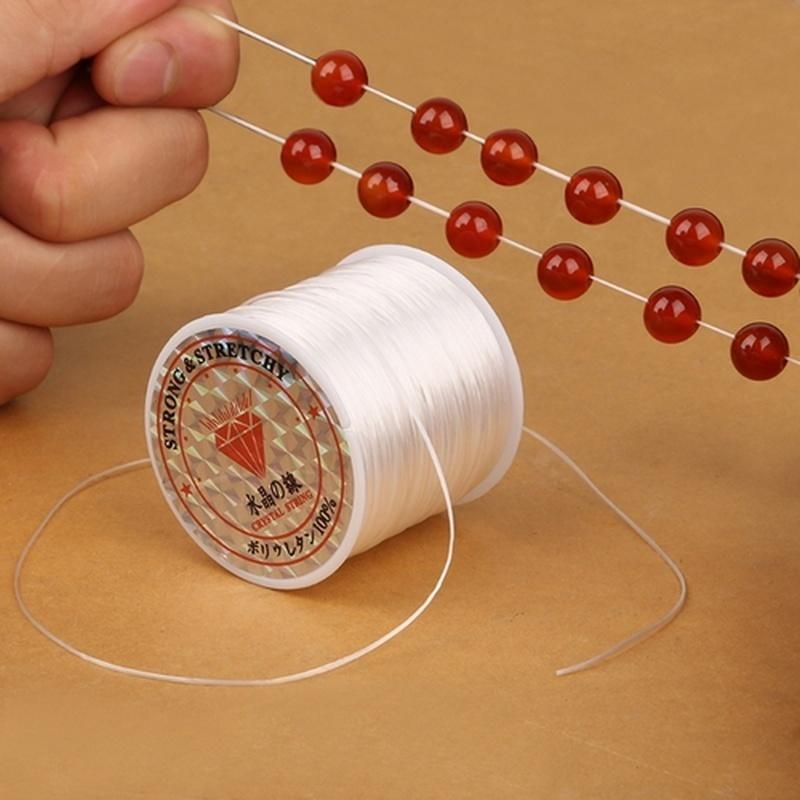 1 Roll Clear Stretch Spool Elastic String Beading Cord DIY Jewelry Accessories