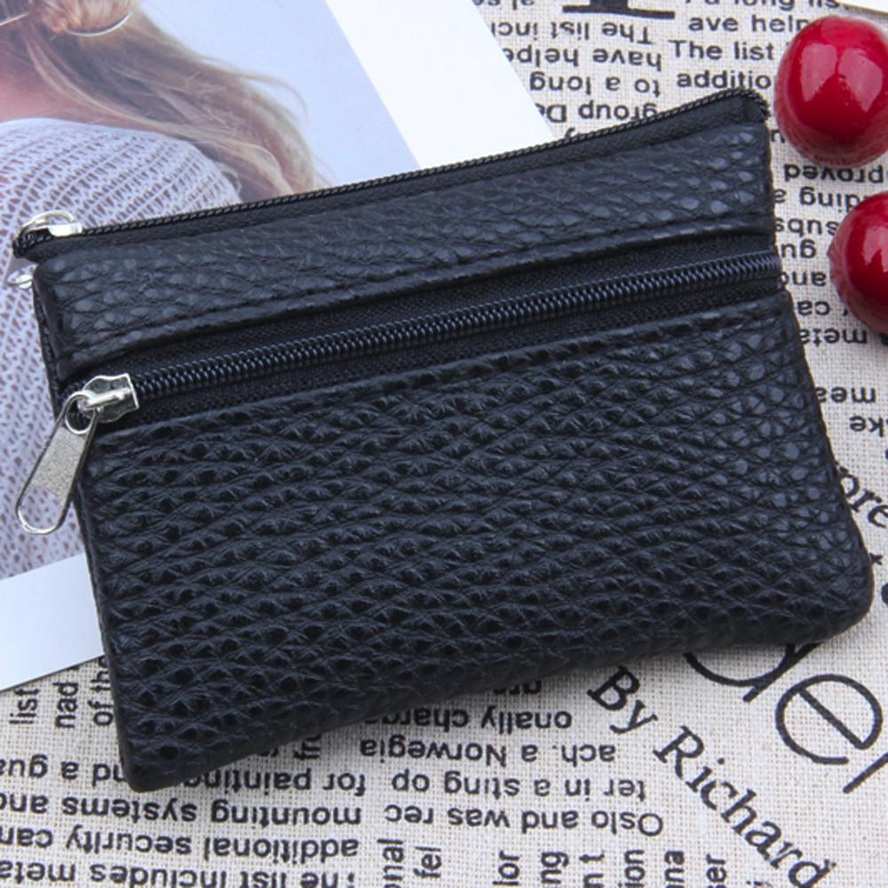 Woman/'s Leather Embroidered Short Retro Wallet Zipper Coin ID Credit Card Purse