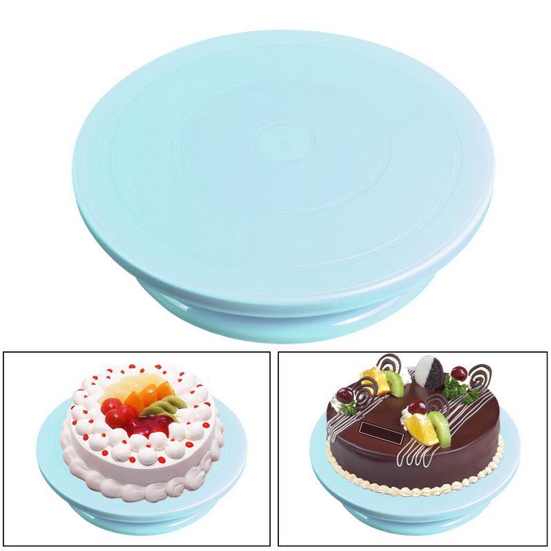 14cm Rotating Plate Cake Decorating Turntable Display Stand Baking DIY Tool