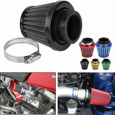 Auto Cold Air Intake Scooter Atv Dirt Pit Bike Motorcycle Air Filter Gold 38mm Universal Motorcycle Clamp-On Air Intake Filter Kit