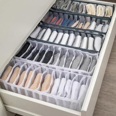 Home Storage Dormitory Closet Organizer for Socks Home Separated Underwear Storage Bra Organizer Foldable Drawer Organizer