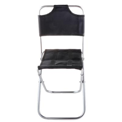 TOOGOO Portable Folding Aluminum Oxford Cloth Chair Outdoor Fishing Camping with Backrest Carry Bag Black