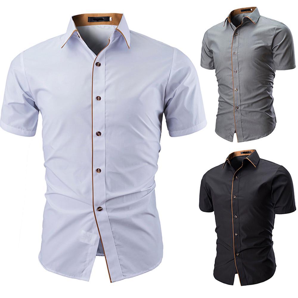 ARTFFEL Mens Business Casual Plaid Print Long Sleeve Lapel Button Down Blouse Shirt