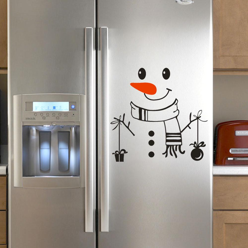 Fridge Cute Decal Happy Delicious Face Fridge Decal Dining Room Wall Stickers Kitchen Wall Decal DIY Home Decor