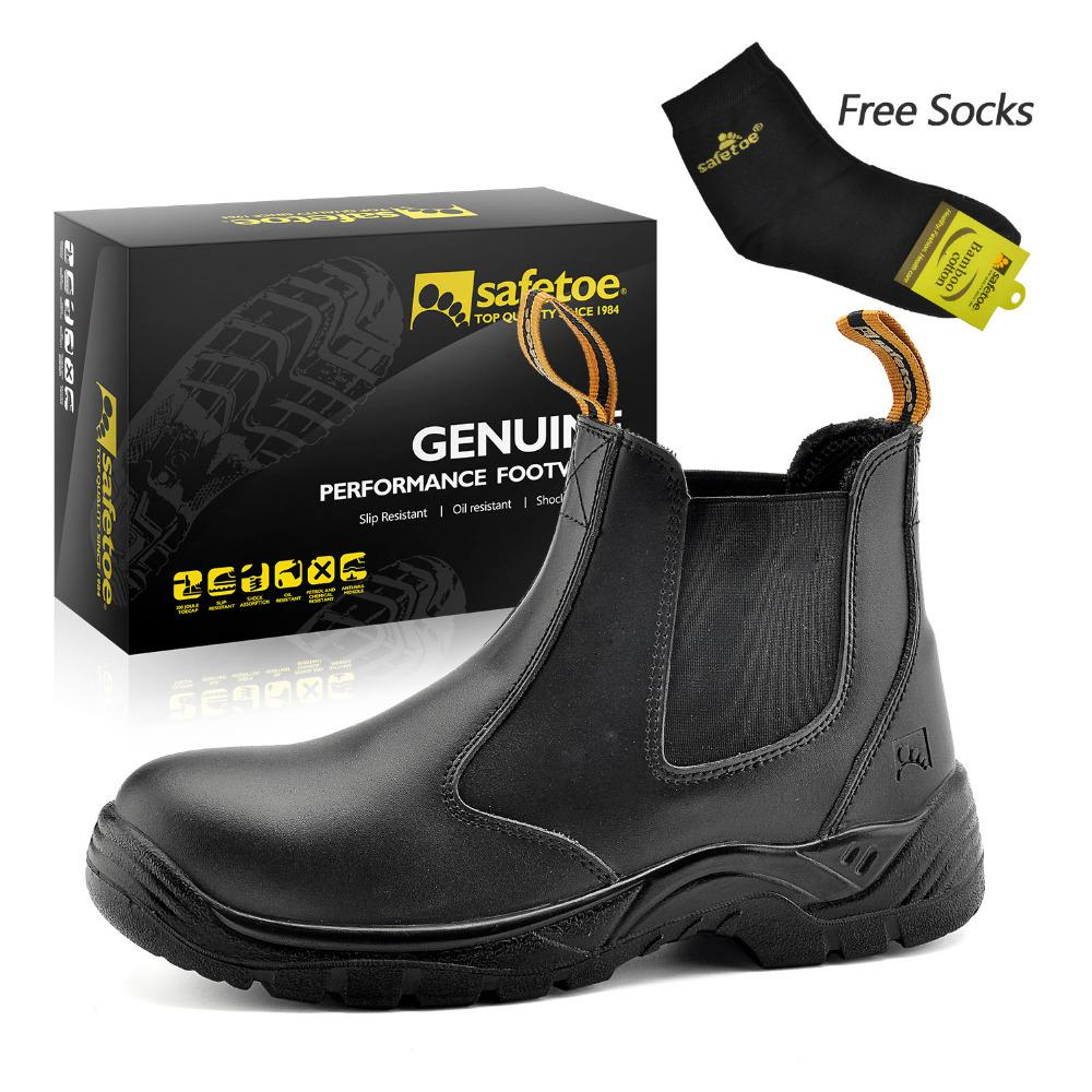 Handmade Fitters Men Safety Cow Leather Boots Steel Toe