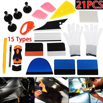 HeLper Tint Card Window Tint Film Car Squeegee Soft/&Hard Window Film Tools for Wallpaper Car Wrap Decals Signs 2Pcs
