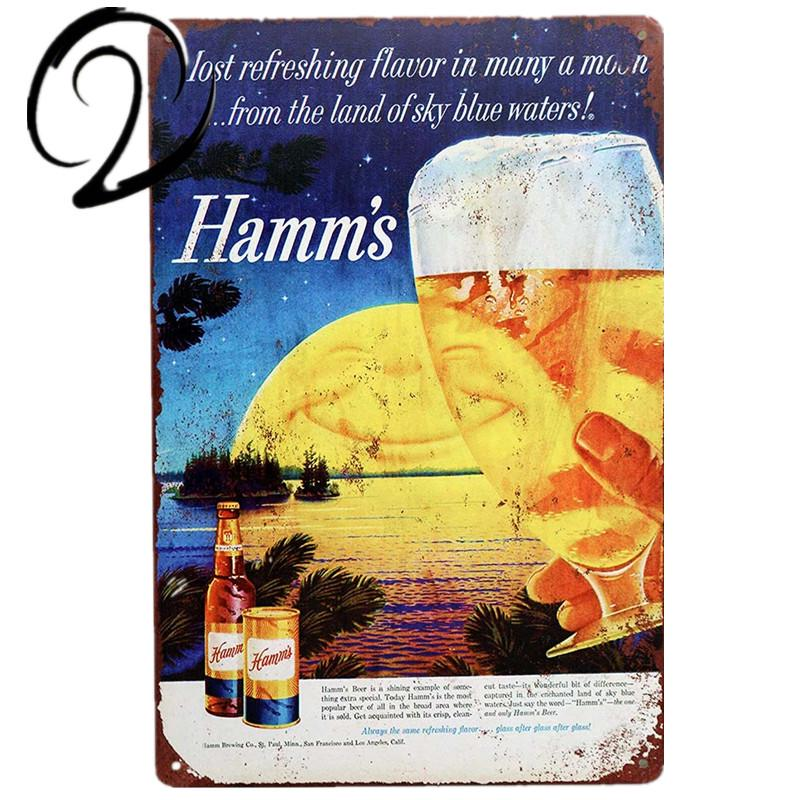 Metal Tin Sign hamm/'s  beer  Pub Home Vintage Retro Poster Cafe ART