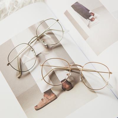 Metal Zero Diopter Eyewear Upscale Round Glasses Frame Retro Designer Optical Plain Myopia Frame Mirror Unisex Eyeglasses