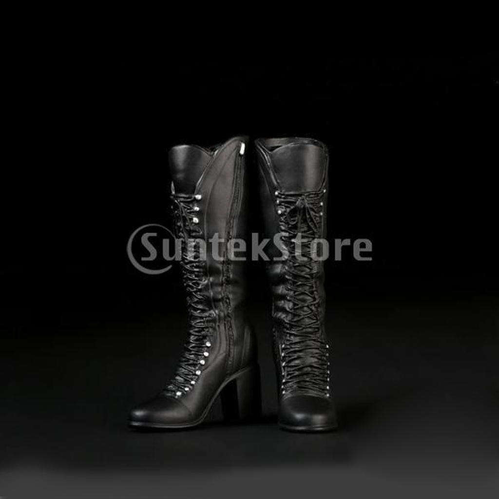 1 6 Lace Up High Heels Boots Shoes for 12   Action Figure Body-buy ... fb5cf466da96