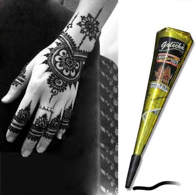 Tattoo Cream 1pc Black Henna Tattoo Cream Cone Temporary Body Art Mehandi Gilding Paint Diy Buy At A Low Prices On Joom E Commerce Platform