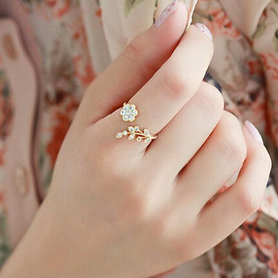 Изысканные женщины Роуз Цветок Кольцо Мода Ювелирные изделия Годовщина Свадебные кольца фото