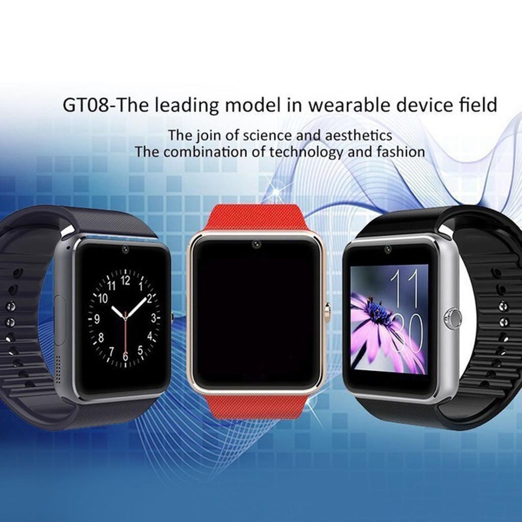 4fcfd824a6190e GT08 Smart Watch With Camera Function Wristband Bluetooth Man Woman ...