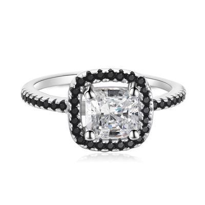 a5c18b5e600c Vintage mujeres niñas blanco cuadrado rhinestone anillos boda compromiso  fiesta joyería