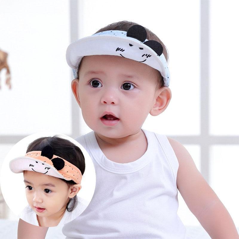 Infant Baby Girl Boy Bonnet Cute Ear Hat Adjustable Sun Baseball Peaked Cap NEW