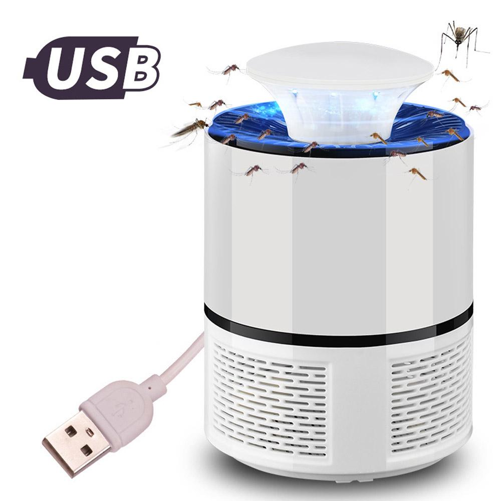 Electric USB Fly Zapper Mosquito Killer Bug Insect Pest LED Lamps Trap Control