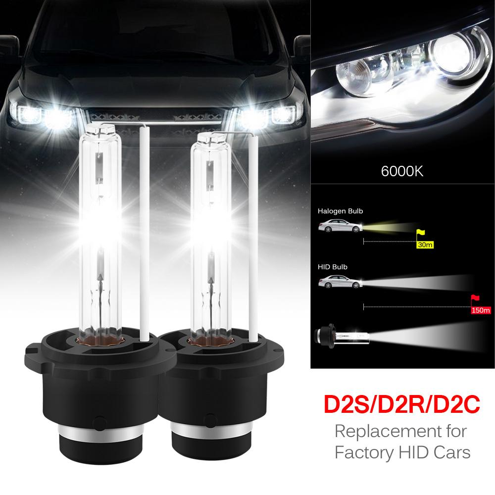 2x D2S 8000K HID XENON Two REPLACEMENT BULB Lamp D2C Blue 35W Front Lights Pair