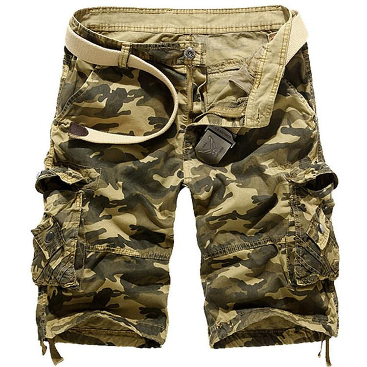 Men Military Cargo Army Camouflage Tactical Beach Shorts Pants Casual Trousers