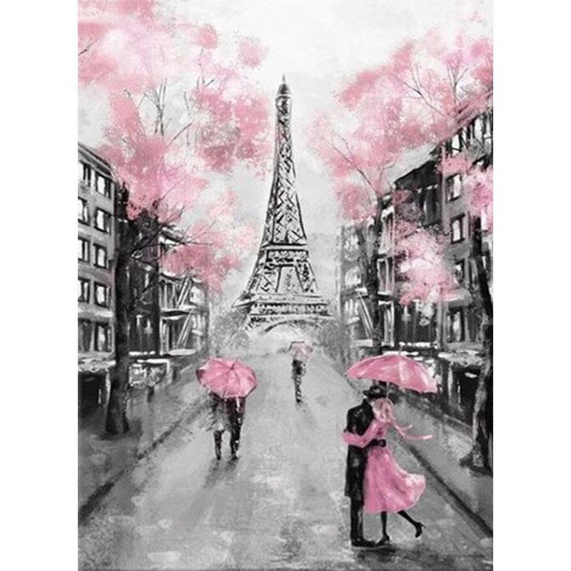 5D DIY Алмазная картина Крест Астеж Пара Парижская башня Алмазная вышивка Мозаика Главная Декор Ремесел – купить по низким ценам в интернет-магазине Joom