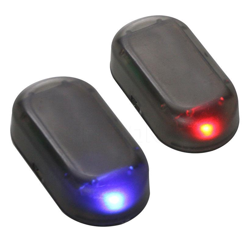 Solar Power Car Anti-Theft Led Light Auto Alarm Lamp Security Warning Flash