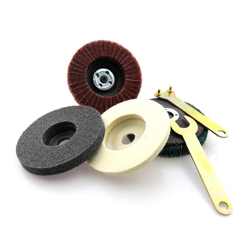 Stainless Steel Polishing Kits For Angle Grinder Flap Disc Buffing Replace Tools