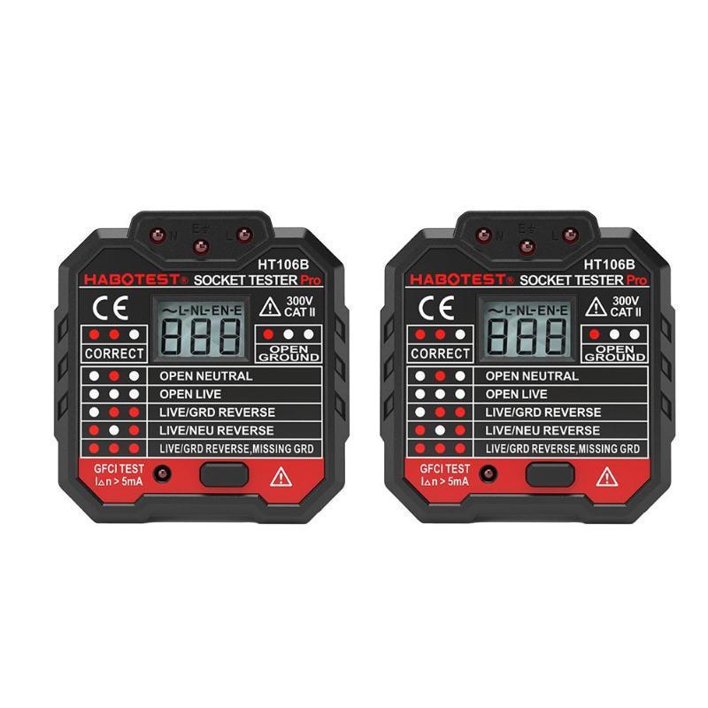 Electric Mains Fault Checker Socket Tester Digital Display Plug In AC 110V-230V,